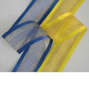 Wired Metallic Sheer Ribbon
