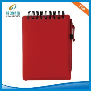 81K Plastic cover spiral notepad with pen